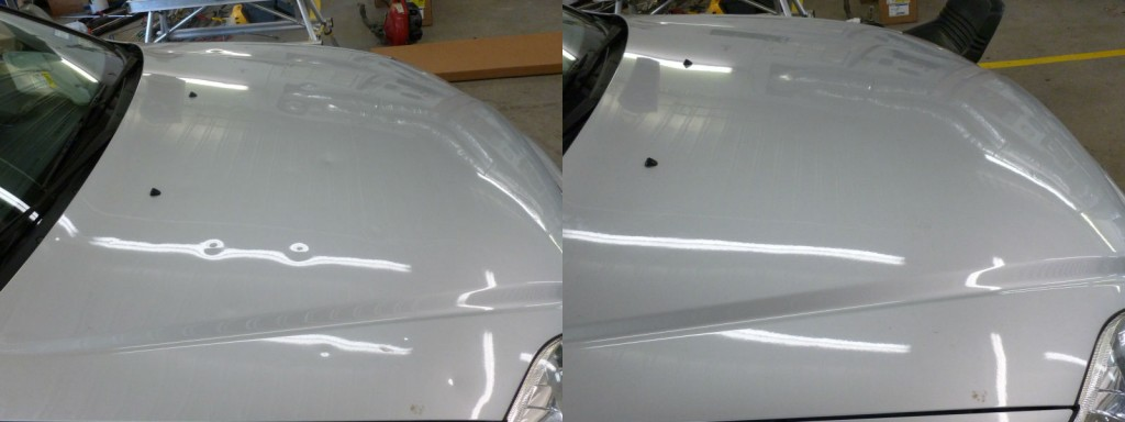 2000 Honda Civic with Hail Damage Before and After Paintless Dent Repair